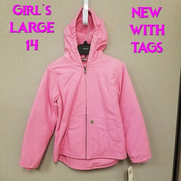9f49a4e6 Carhartt Jackets & Coats | Girls Redwood Hooded Jacket Nwt Large 14 ...